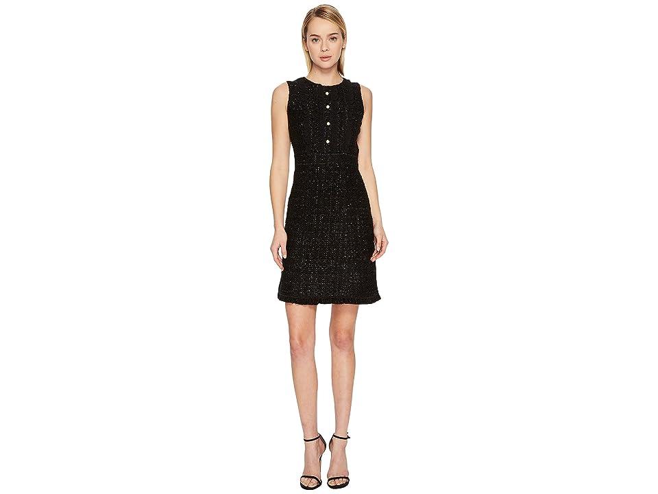 Kate Spade New York Sparkle Tweed Dress (Black) Women