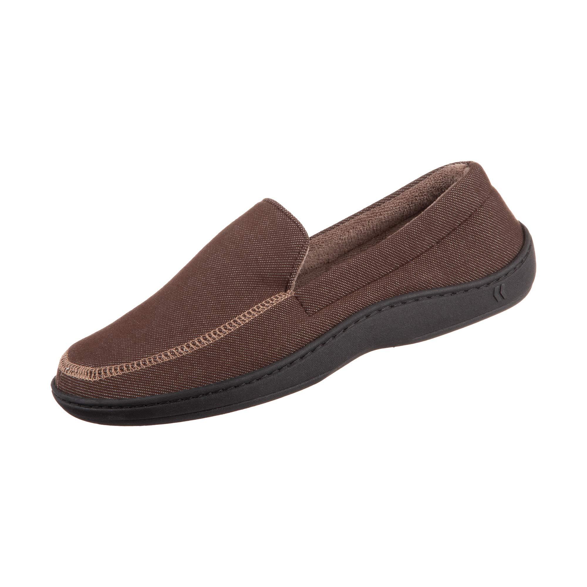 Chandler Men's Moccasin Slippers, Memory Foam, Indoor/Outdoor Sole