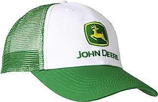 John Deere NCAA Mens Trademark Logo Trucker Mesh Back Core Baseball Cap