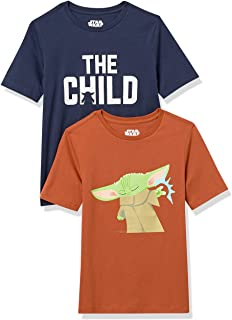 Amazon Essentials da bambino Disney Star Wars Marvel T-shirt a maniche corte