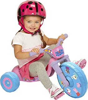 """Peppa Pig 10"""" Fly Wheels Junior Cruiser Ride-On Pedal-Powered Toddler Bike/Trike, Ages 2-4, For Kids 33""""-35"""" Tall and up t..."""