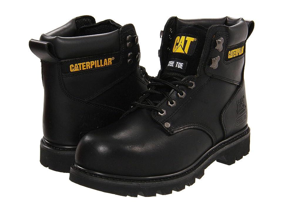 Caterpillar 2nd Shift Steel Toe (Black Full Grain) Men
