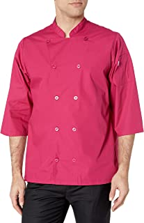 Uncommon Threads Unisex-Adult's Plus Size Epic 3/4 SLV Chef Shirt