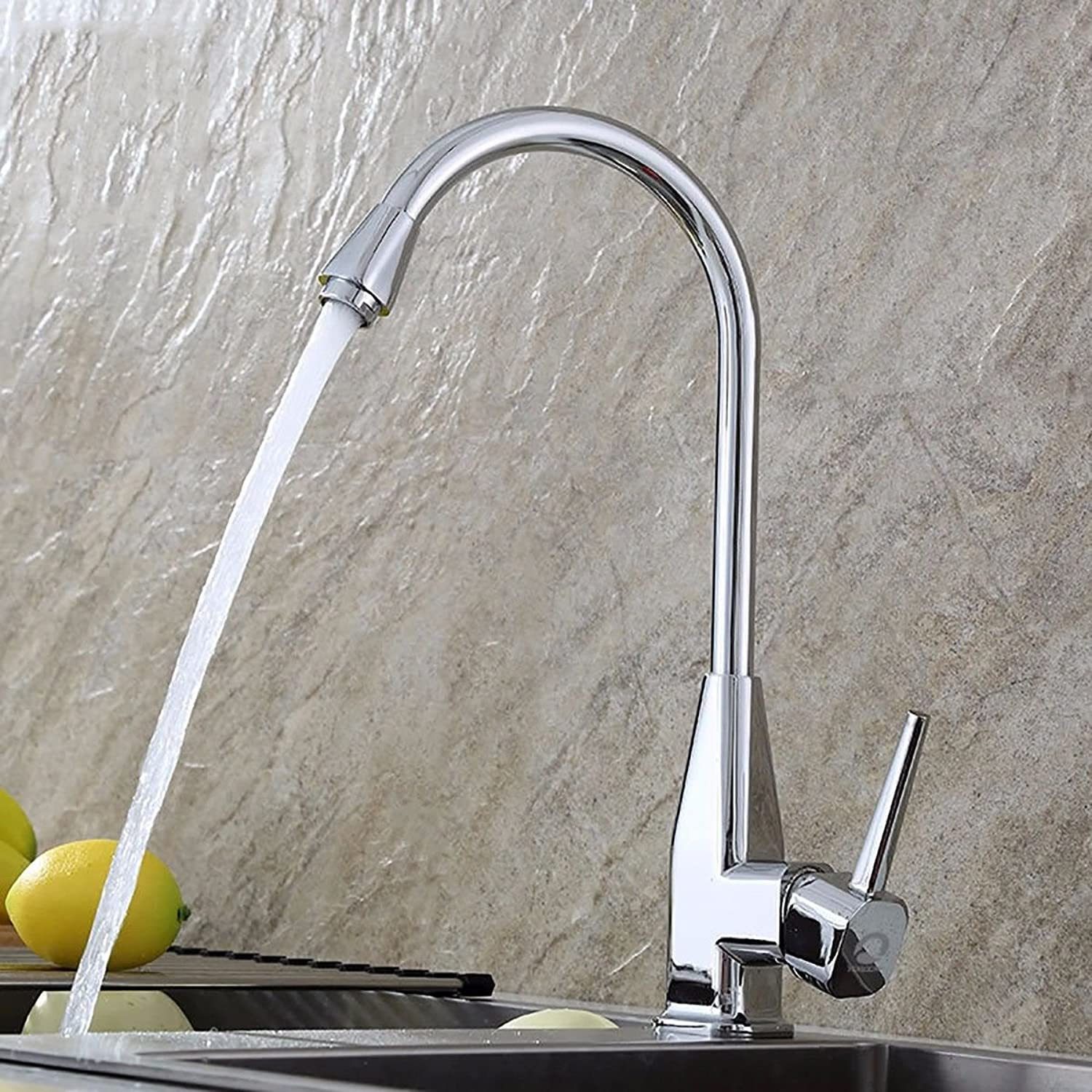 Modern simple copper hot and cold kitchen sink taps kitchen faucet Zinc alloy sink sink faucet Suitable for all bathroom kitchen sinks