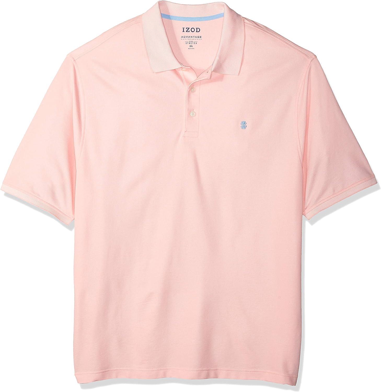 IZOD Men's Big & Tall Advantage Performance Short Sleeve Solid Polo Shirt (Discontinued)