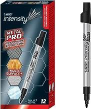 BIC Intensity Metal PRO Permanent Marker, Fine Point, Black, 12-Count
