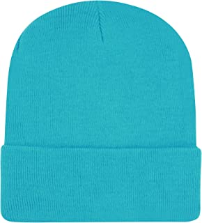Unisex Cuffed Skull Plain Knit hat Cap,Beanie Cold Winter hat