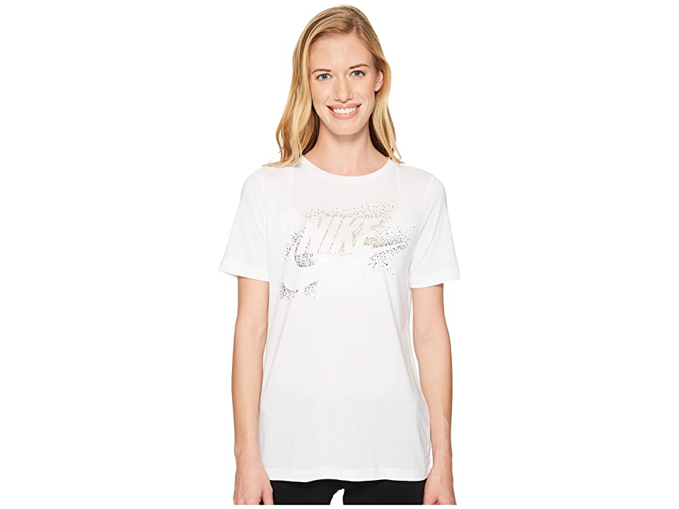 Nike Sportswear Essential Metallic Tee (White) Women