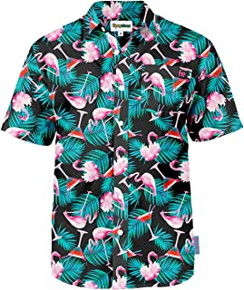 Men's Bright Hawaiian Shirt for Summer Aloha Shirt for Guys