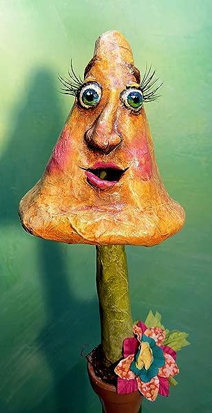 12 Happy Mushroom In Flower Pot Wine Stopper