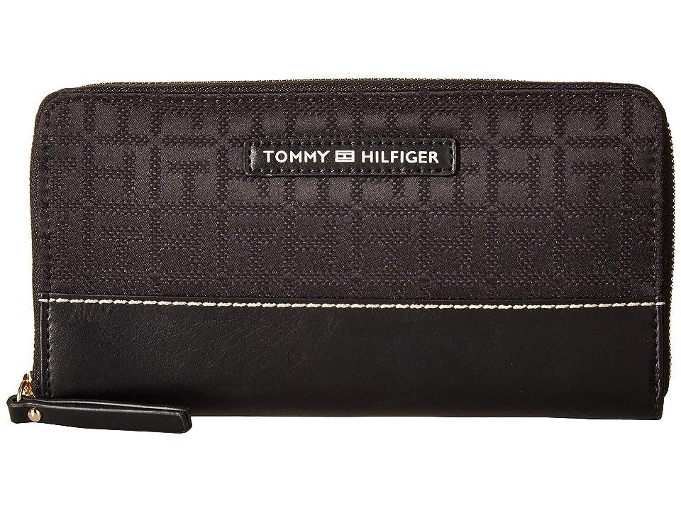 Tommy Hilfiger Jackie Zip Wallet (Black/Tonal) Wallet Handbags
