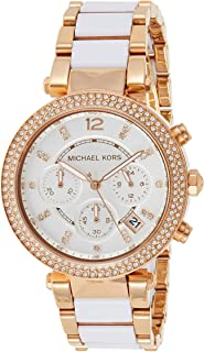 Michael Kors Womens Quartz Watch, Analog Display and Resin Strap MK5774