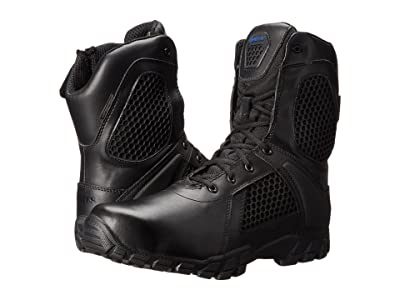 Bates Footwear Shock 8 Side Zip (Black) Men