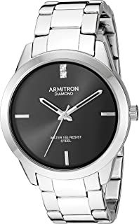 Armitron Men's Silver-Tone Bracelet Watch, 20/5409BKSV