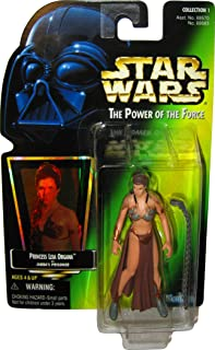 Star Wars the Power of the Force - Princess Leia Organa as Jabba's Prisoner Action Figure