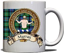 Murray Scottish Clan Crest Motto Atholl Tartan Mug