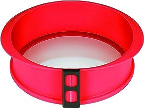 DoughEz 9-Inch Round Silicone Glass Bottom Non-Stick Springform Pan, Oven Safe Up to 450° F, Dishwasher Safe, BPA Free, FD...