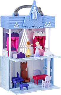 Disney Frozen Pop Adventures Arendelle Castle Playset with Handle, Including Elsa Doll, Anna Doll, & 7 Accessories - Toy F...