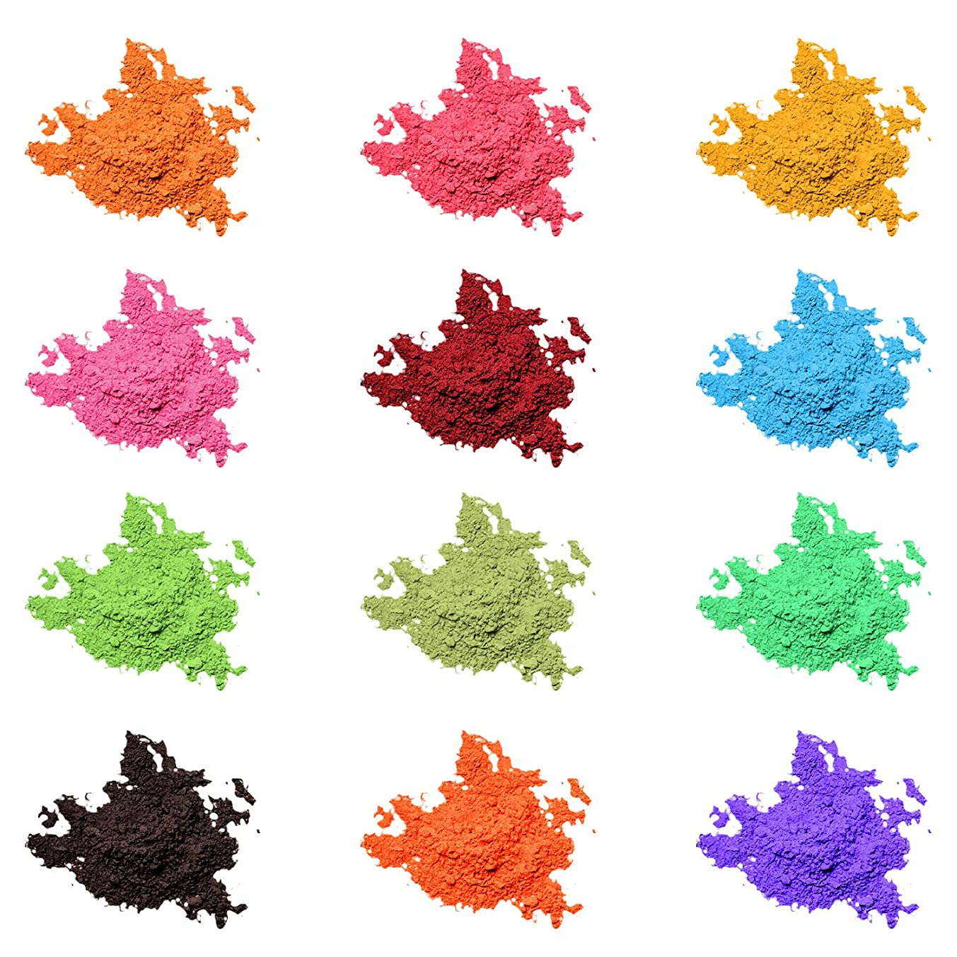 Mica Powder Pigment Pure 12 Color,Cosmetic Grade Natural Epoxy Resin Pigment Powder for DIY Slime Coloring and Soap Making Supplies,Bath Bomb Colorant,Paint,Makeup Dye,Nail Art,Eye Shadow, Craft
