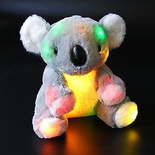 Bstaofy LED Gray Koala Bear Stuffed Animal Glow Soft Adorable Floppy Colorful Plush Toy Birthday for Kids Toddlers, 9.5''