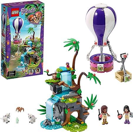 LEGO 41423 Friends Rescate en la Jungla del Tigre en Globo, Juguete de Construcción con Figuras de Animales para Niños +7 años