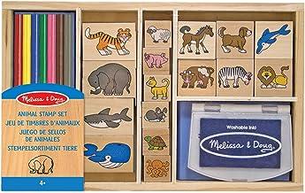 Baier /& Schneider Tampon Motif Ensemble de tampons animaux du zoo 15/Tampon bois Animaux//1,5/x 1,5/cm
