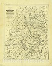 Historic Pictoric Map : Moosehead Lake Region, Maine 1891, Antique Vintage Reproduction : 35in x 44in