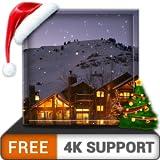 increíble paquete gratuito de nevadas: disfruta de la temporada de Navidad de invierno en tus dispositivos hdr 8k 4k tv y fire como fondo de pantalla y tema de mediación y paz
