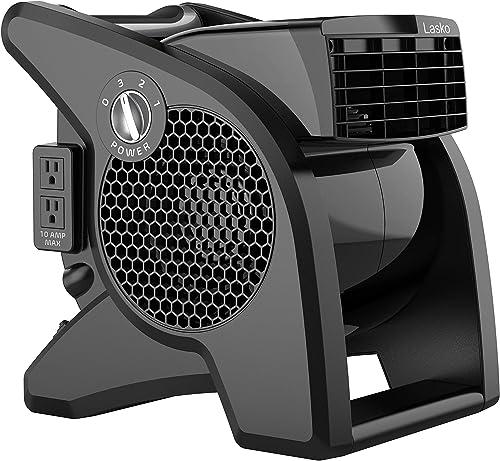 Lasko U15617 - Ventilador de alta velocidad para refrigeración, ventilación, agotamiento y secado en casa, sitio de t...