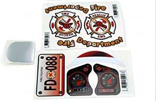Firetruck Replacement Decals Stickers Fits Little Tikes 30th Anniversary Cozy Coupe Car toy + logos
