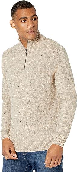 Rugged Merino Wool Half-Zip Sweater
