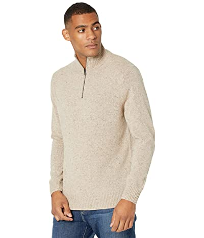 J.Crew Rugged Merino Wool Half-Zip Sweater (Natural Donegal) Men