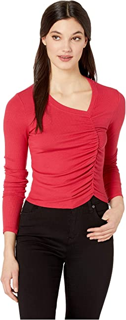 Leeloo 2X1 Modal Stretch Rib Long Sleeve Crop Top