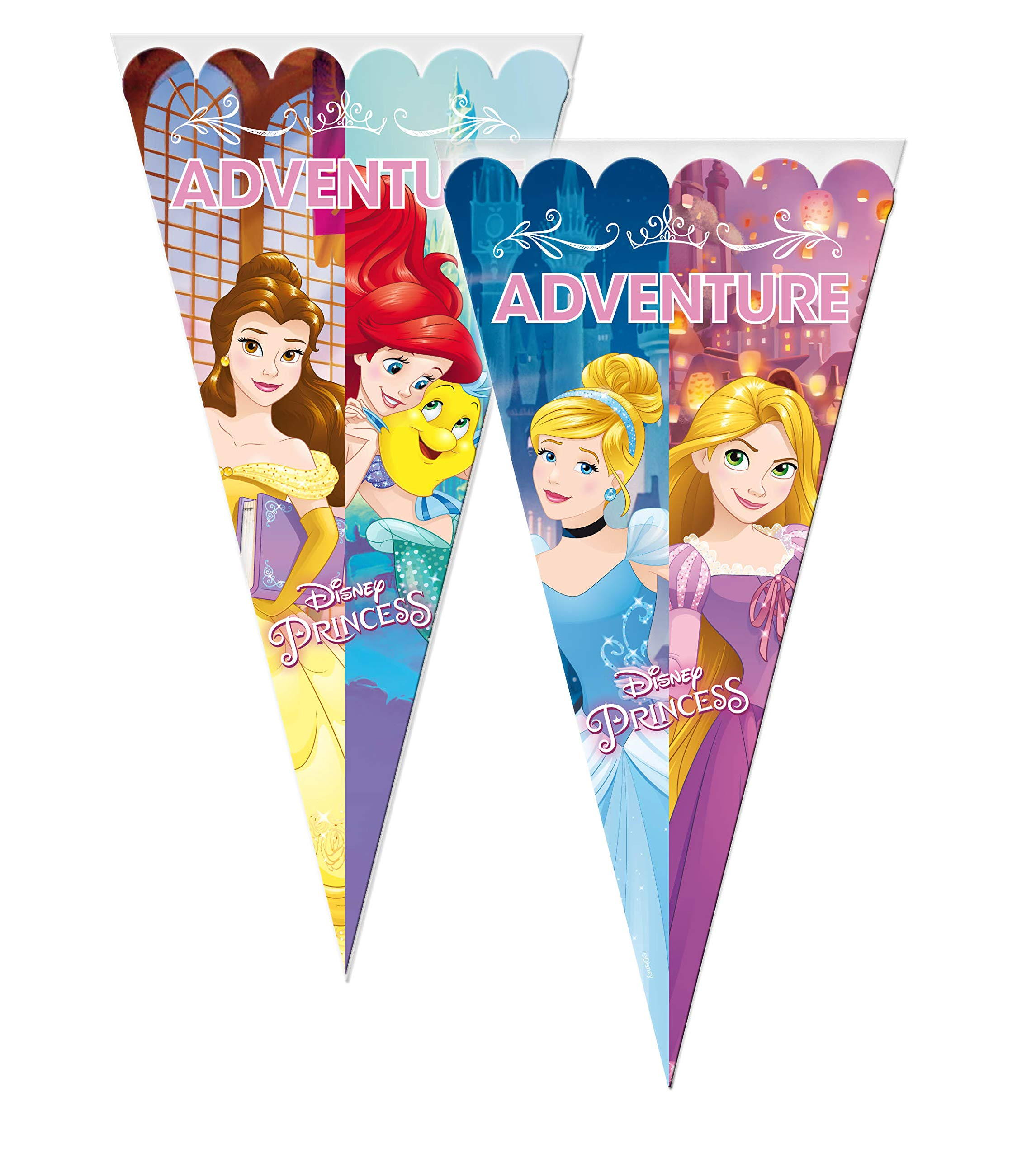 ALMACENESADAN 2362; Pack 6 Bolsas de Cono Disney Princesas; Ideal ...