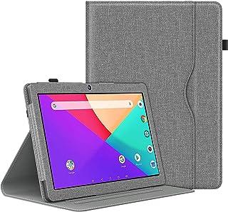 Dragon Touch K10 ケース ATiC Dragon Touch タブレット 10.1インチ カバー 軽量 薄型 スタンド 全面保護カバー スマートケース Gray