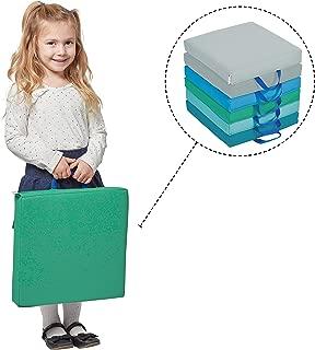 ECR4Kids SoftZone Floor Cushions with Handles, 2