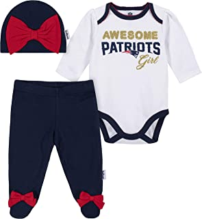NFL Girls Bodysuit Footed Pant and Cap