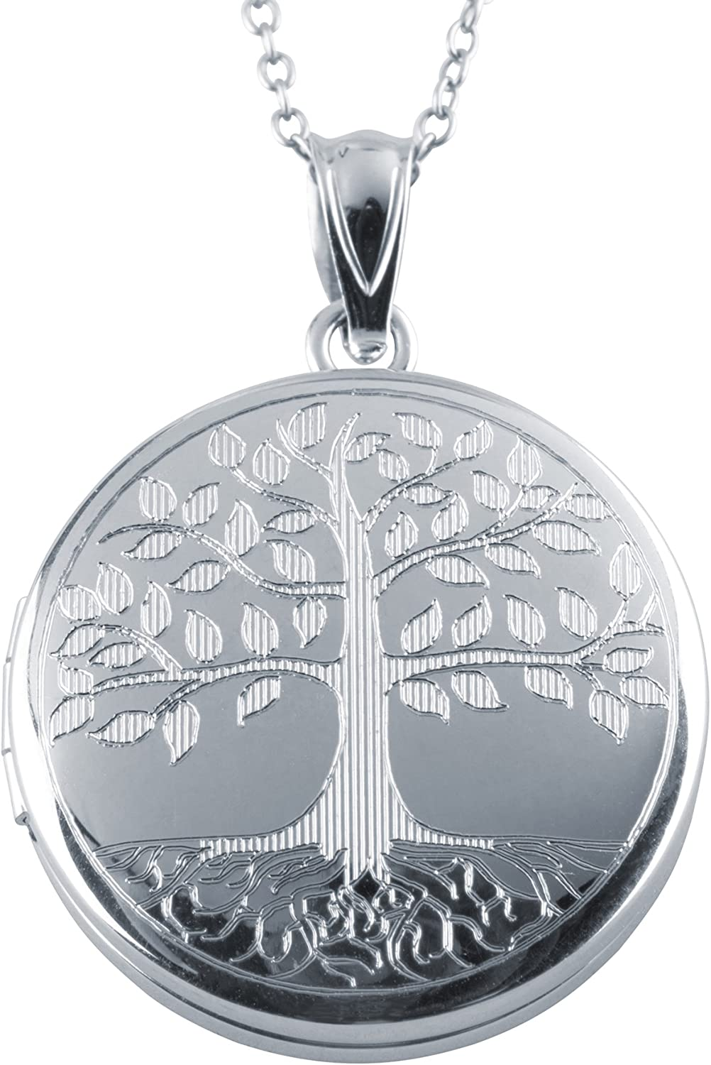 Colorado Springs Mall Sterling Silver Round Shape Tree Pendant Locket Fashion of Life Max 44% OFF