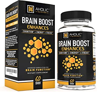 Premium Energy Pills - 100mg Caffeine Pills with 150mg L-Theanine + 300mg Omega 3 + More! Smooth Extended Release Focused Energy & Clarity Nootropic Brain Booster, Non-GMO, Keto Diet, PreWorkout
