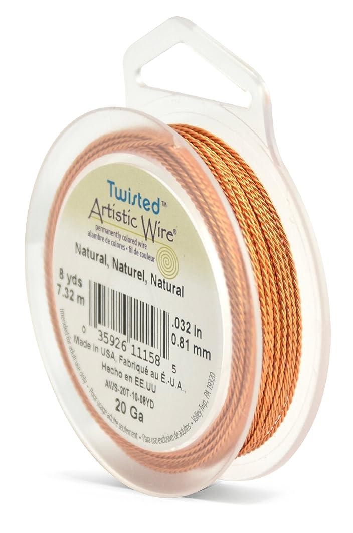 Artistic Wire AWS-20T-10-08YD 20 Gauge Twist, Round, Natural, 8-Yard