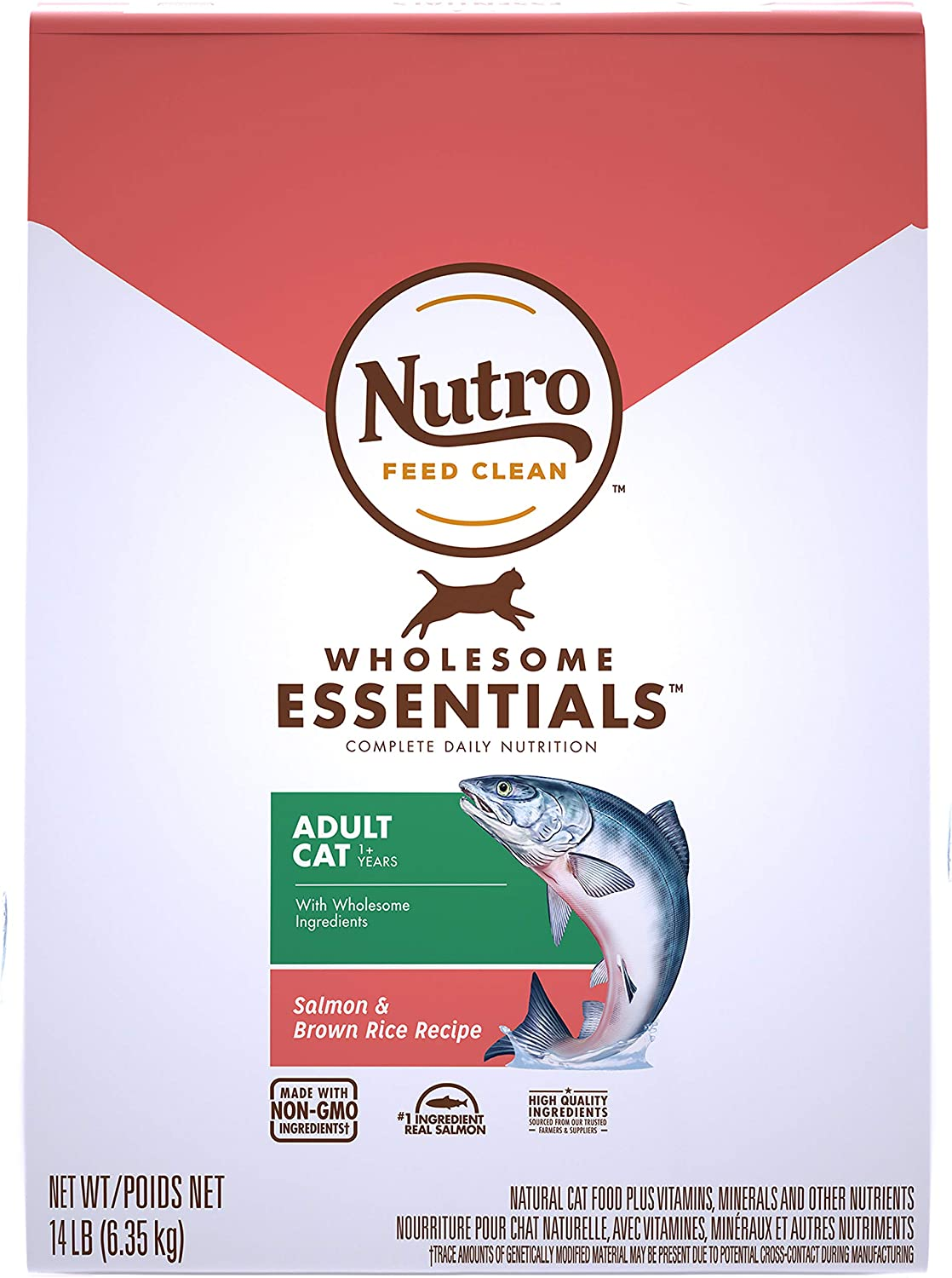 Nutro Wholesome Essentials Adult Dry Food Free shipping All stores are sold anywhere in the nation Cat Salmon