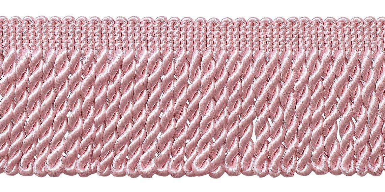 10 Yard Value Pack of Pink 2.5 Inch Bullion Fringe Trim, Style# EF25 Color: K11 (30 Ft / 9 Meters)