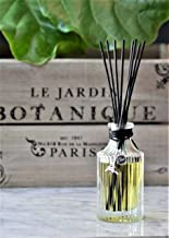 Manu Home Paris Le Jardin Reed Diffuser Giftset   Made with Fresh Notes of Gardenia, Daffodils, Iris and Jasmine   Elegant Reusable Bottle, Beautiful Charm and Black Reed Rattan Sticks   Made in USA