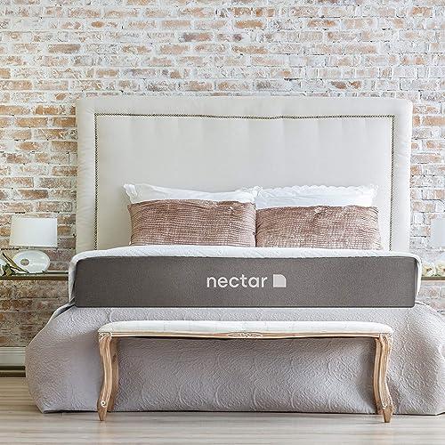 Nectar Full Mattress + 2 Free Pillows - Gel Memory Foam - CertiPUR-US Certified