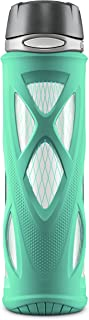ZULU Atlas Glass Water Bottle with Silicone Sleeve