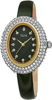 ساعة كوارتز للنساء من بورغي، عرض انالوج وسوار جلدي BUR234GN