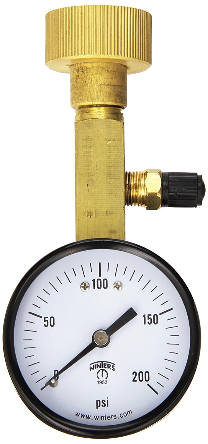 Winters AOM-204TM Omaha Mall Air Over Water Test Gauge NPT Max 53% OFF Mount Top 4