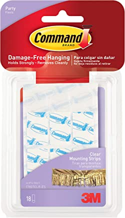Command 17807CLR-ES Party Mounting Strips - Clear