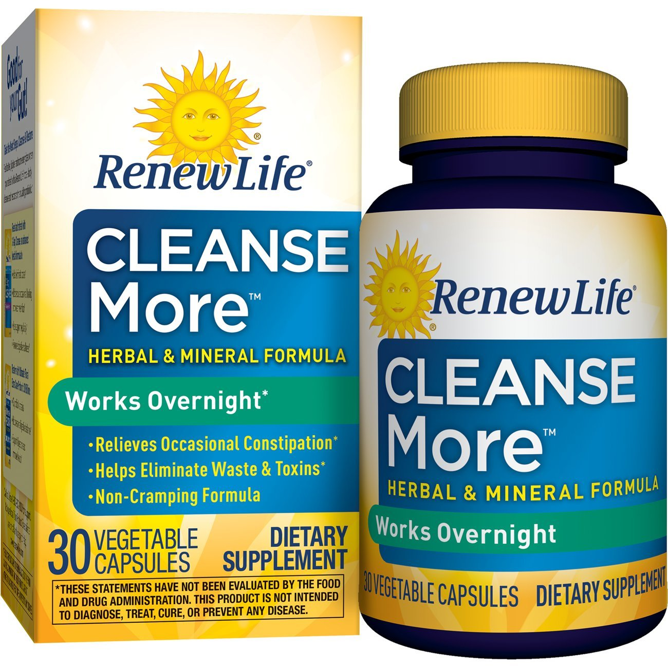 Renew Life constipation supplement vegetable