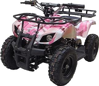 350 Watt Sonora Electric Ride on Mini Quad Utility ATV for Kids, Pink